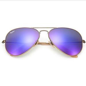 Ray Ban Aviator Mirrored Flash Lenses Sunglasses
